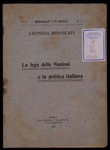 La Lega delle nazioni e la politica italiana