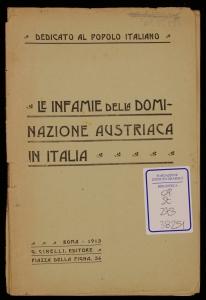 Le infamie della dominazione austriaca in Italia