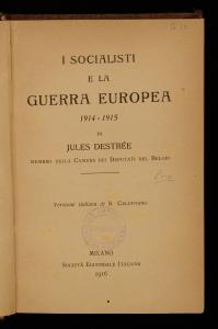 I socialisti e la guerra europea