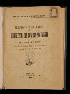 Resoconto stenografico del Congresso dei Comuni socialisti