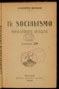 Il socialismo popolarmente spiegato