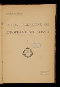La conflagrazione europea e il socialismo