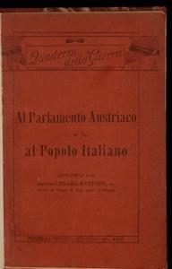 Al parlamento austriaco e al popolo italiano