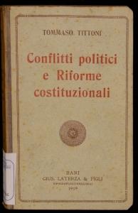 Conflitti politici e riforme costituzionali