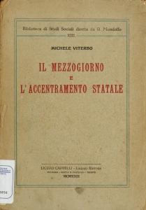 Il Mezzogiorno e l'accentramento statale