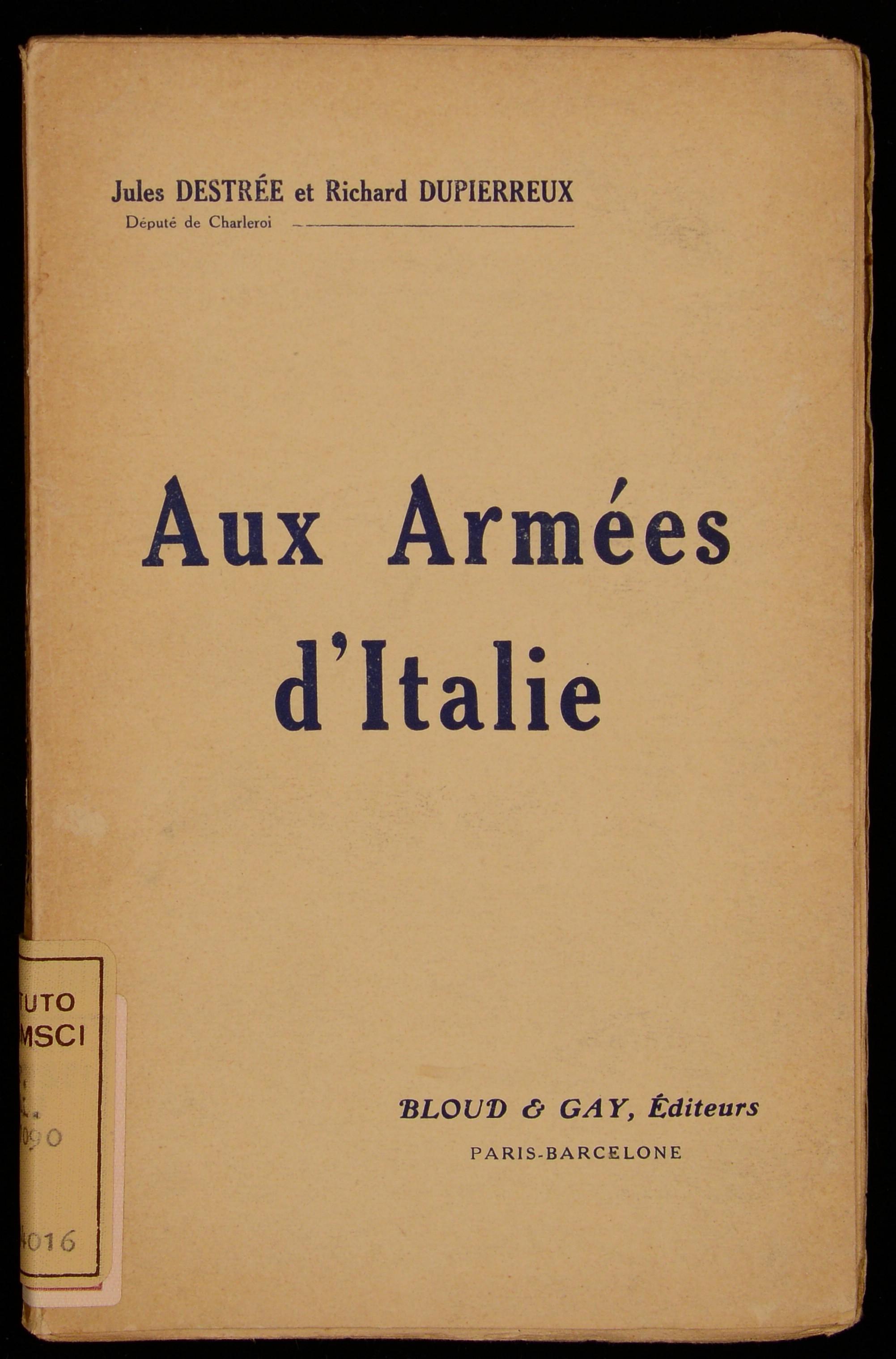 Aux armees d'Italie