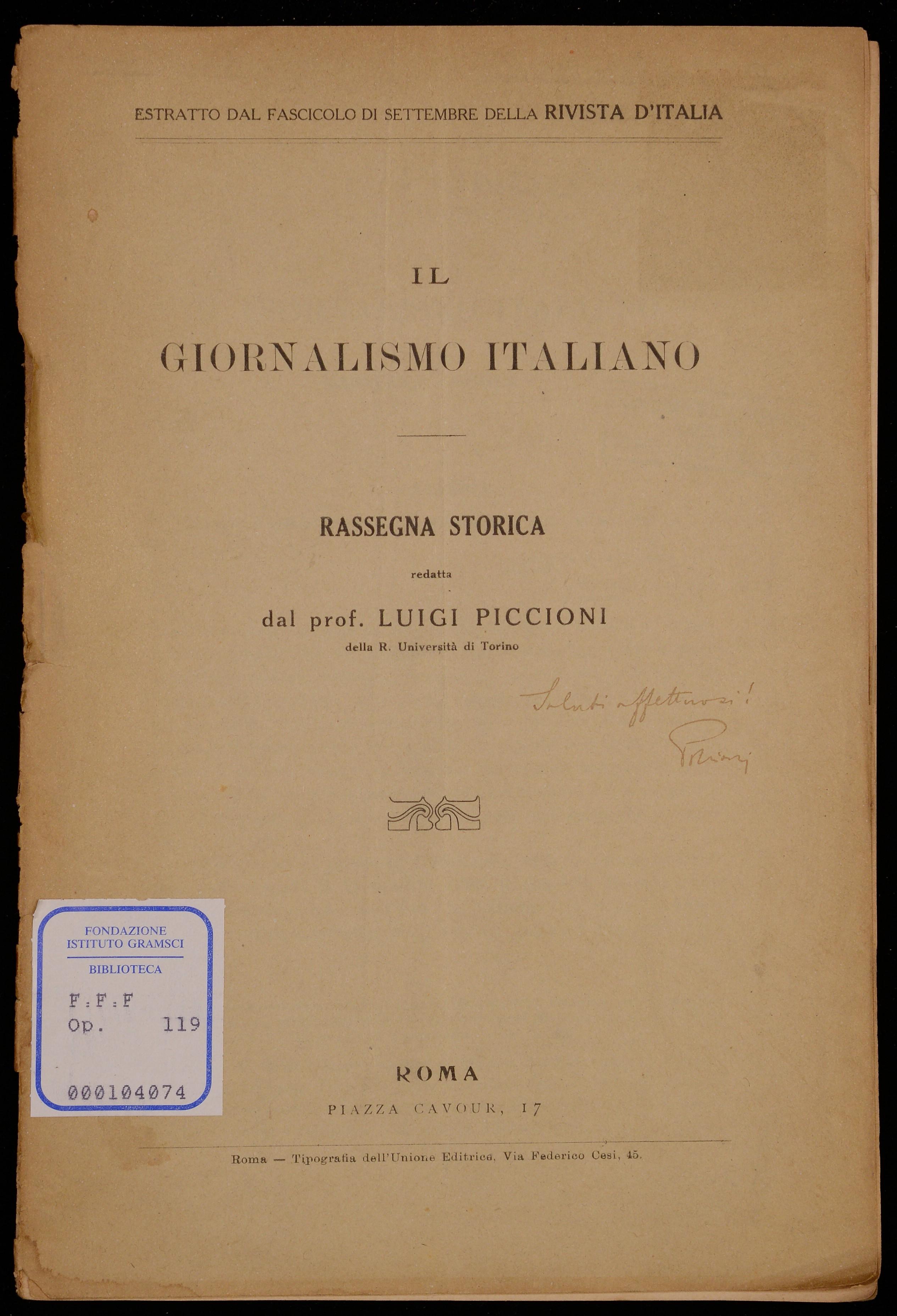 Il giornalismo italiano