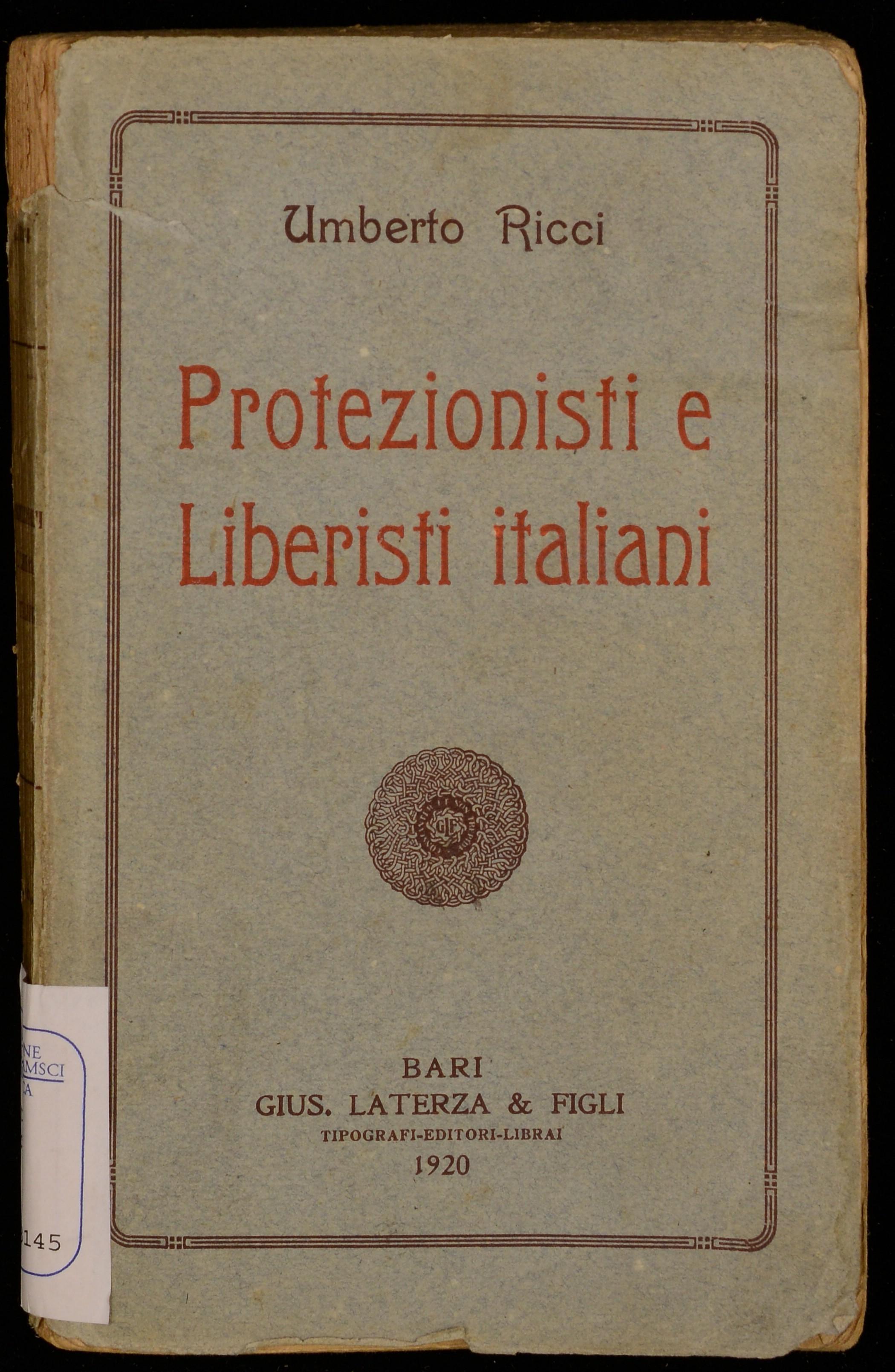 Protezionisti e liberisti italiani