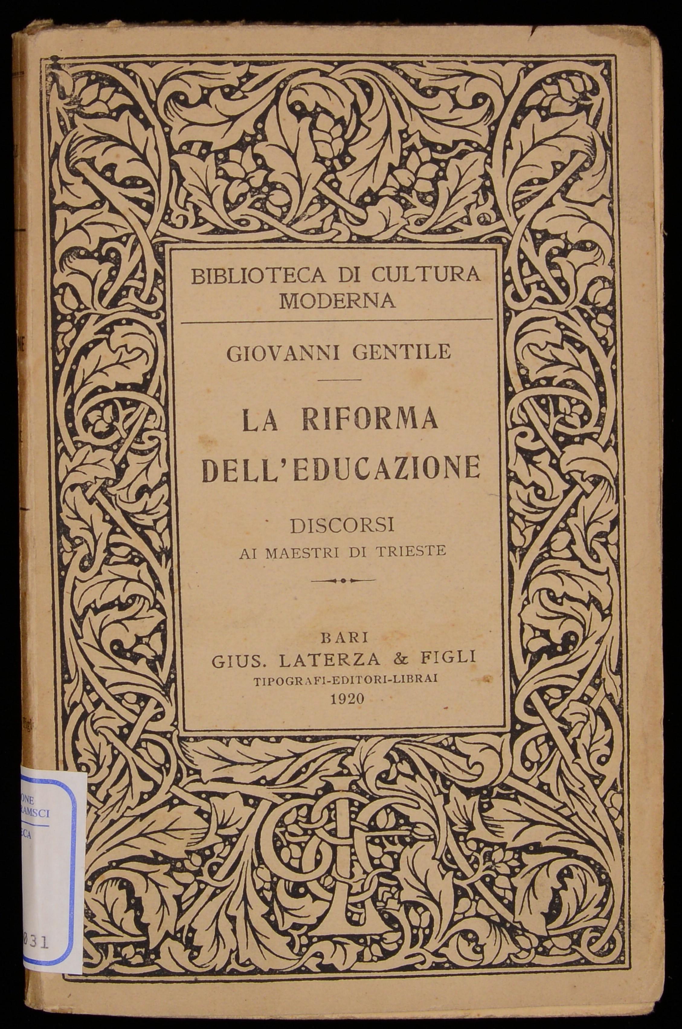 La riforma dell'educazione