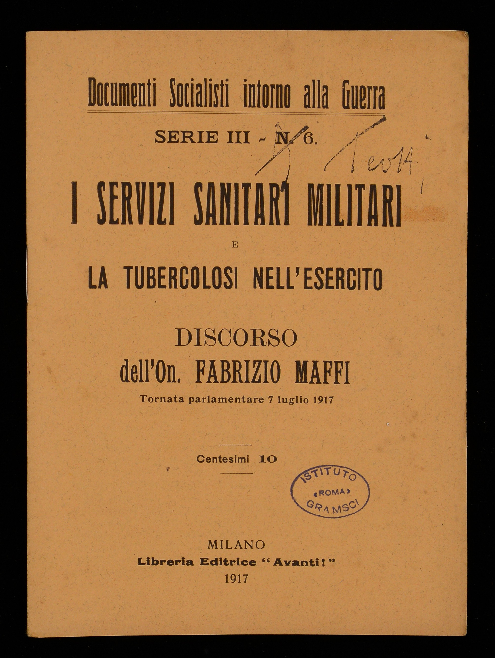 I servizi sanitari militari e la tubercolosi nell'esercito