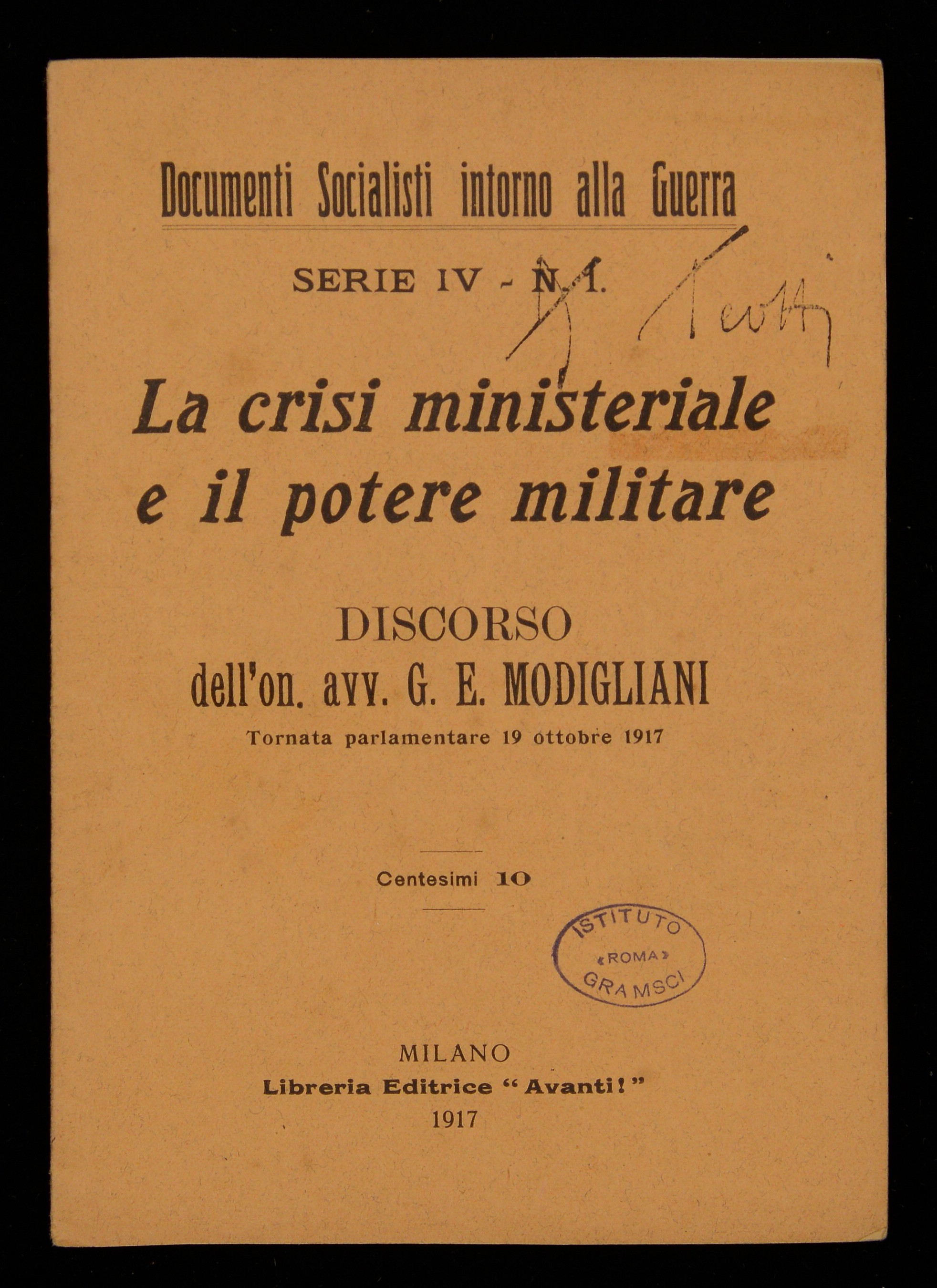 La crisi ministeriale e il potere militare