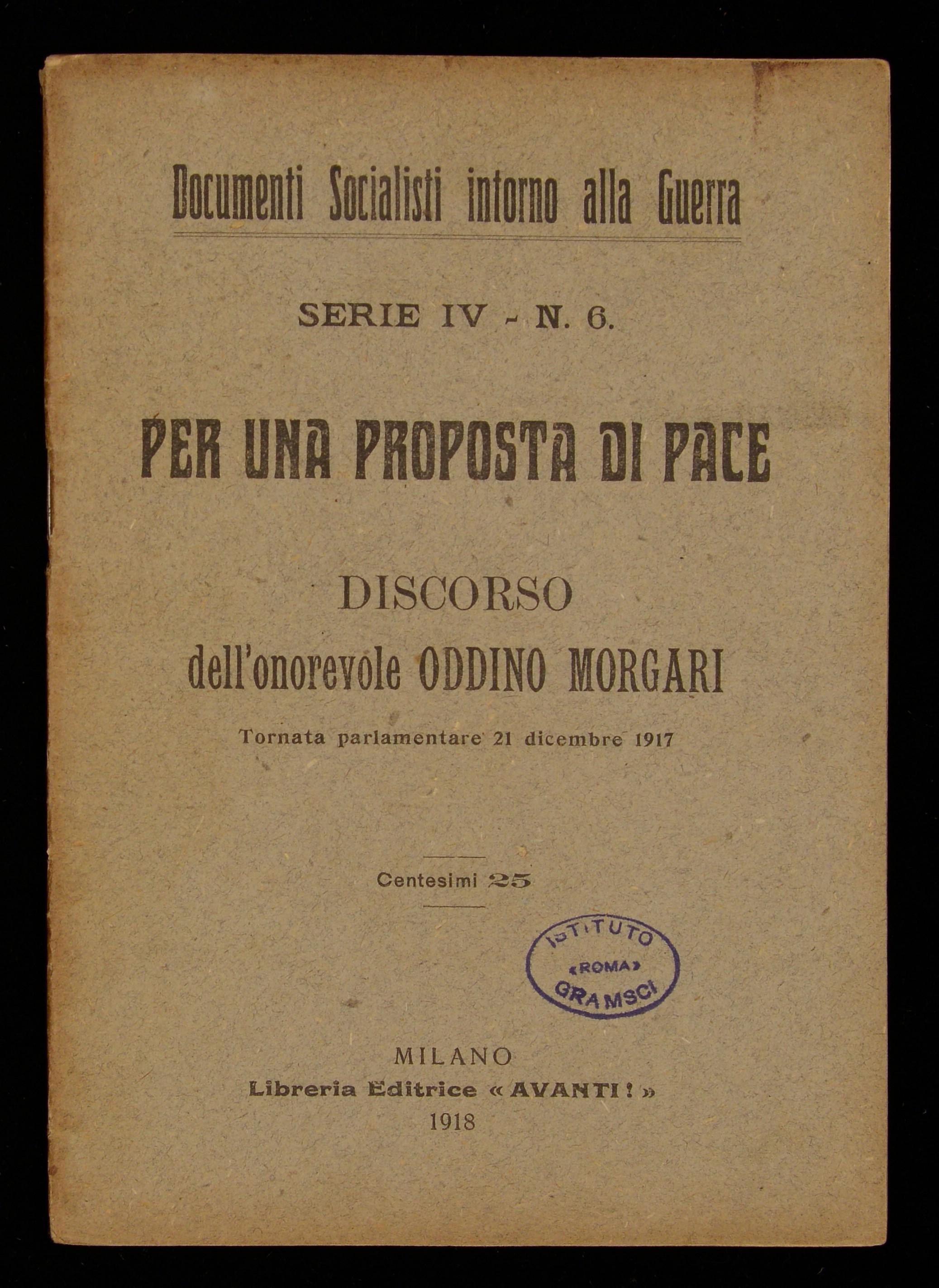 Per una proposta di pace