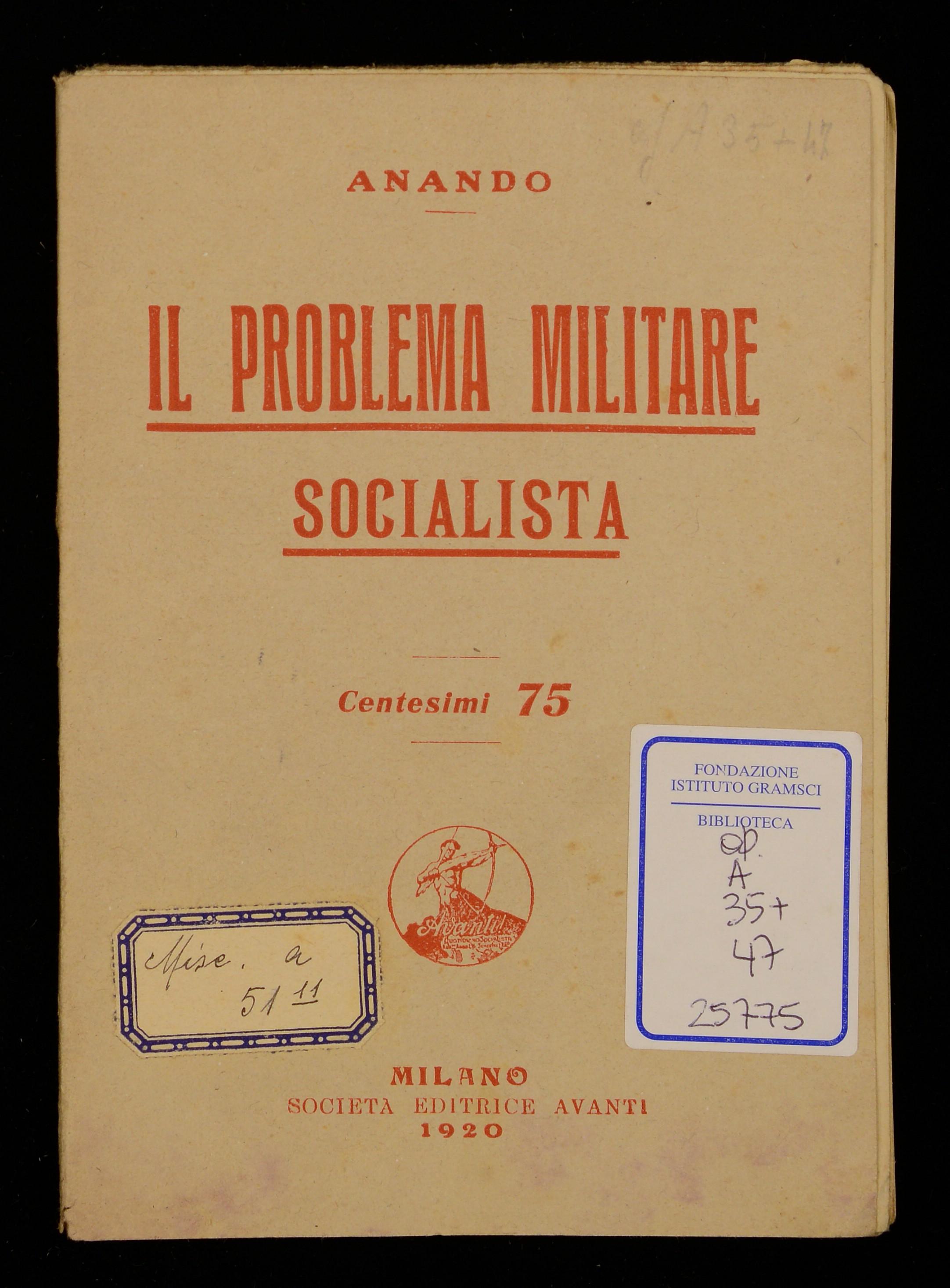 Il problema militare socialista