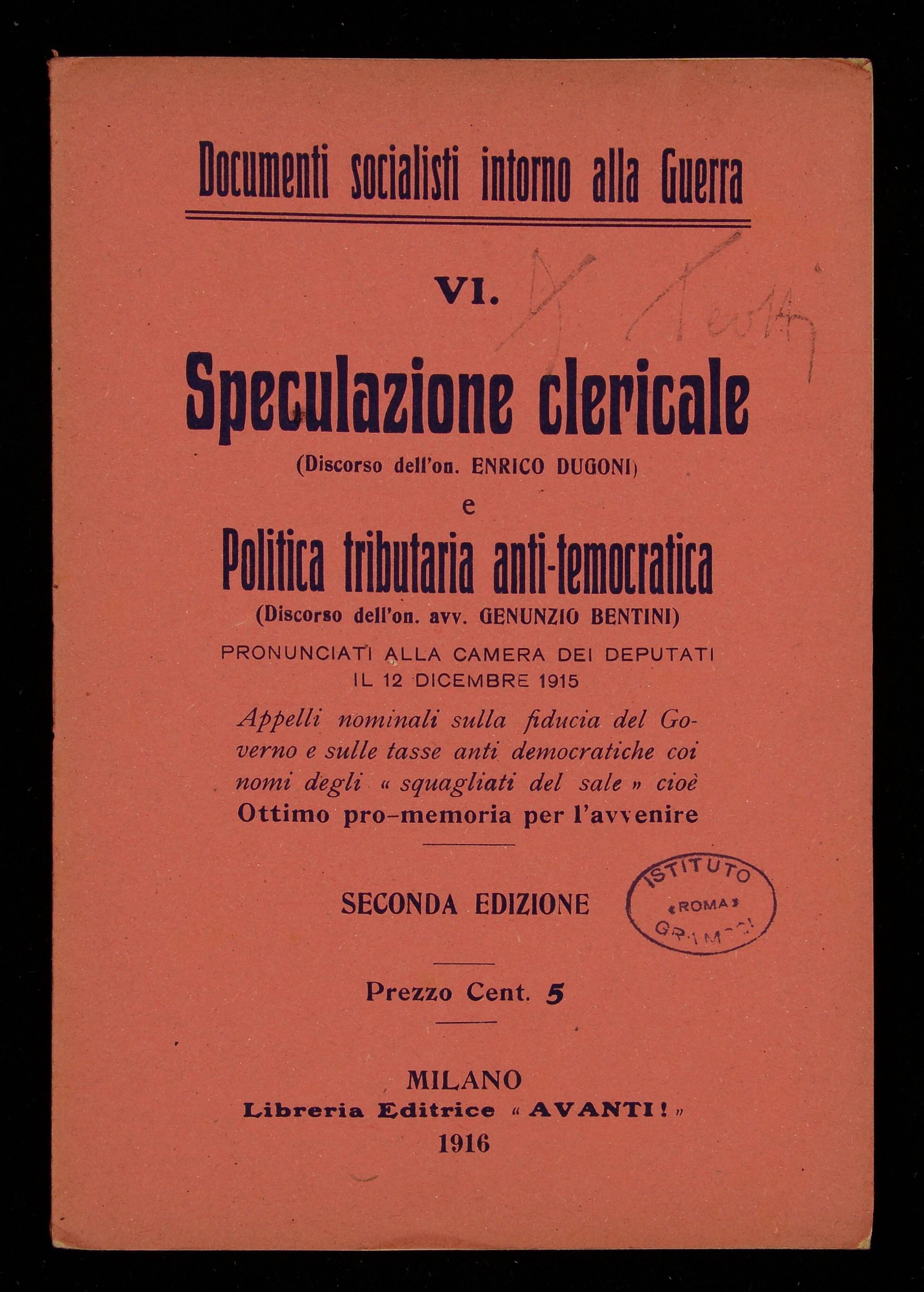 Speculazione clericale