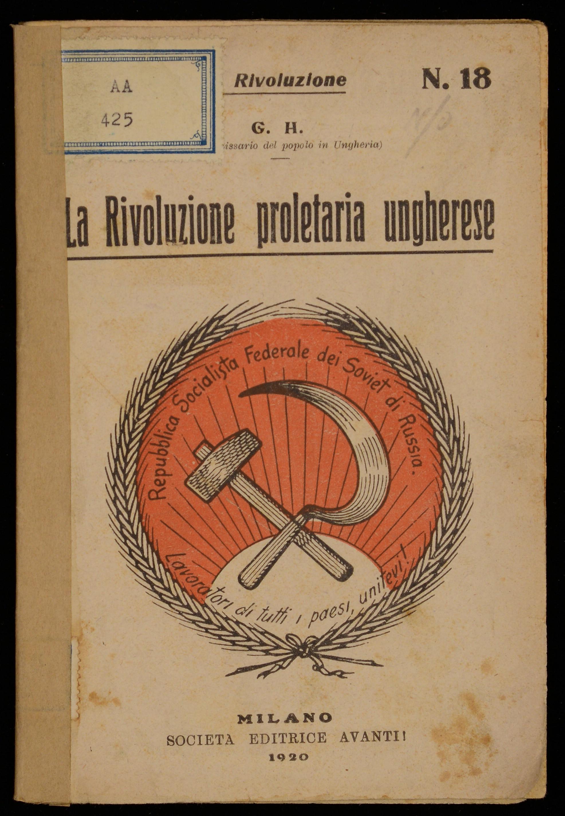 La rivoluzione proletaria ungherese
