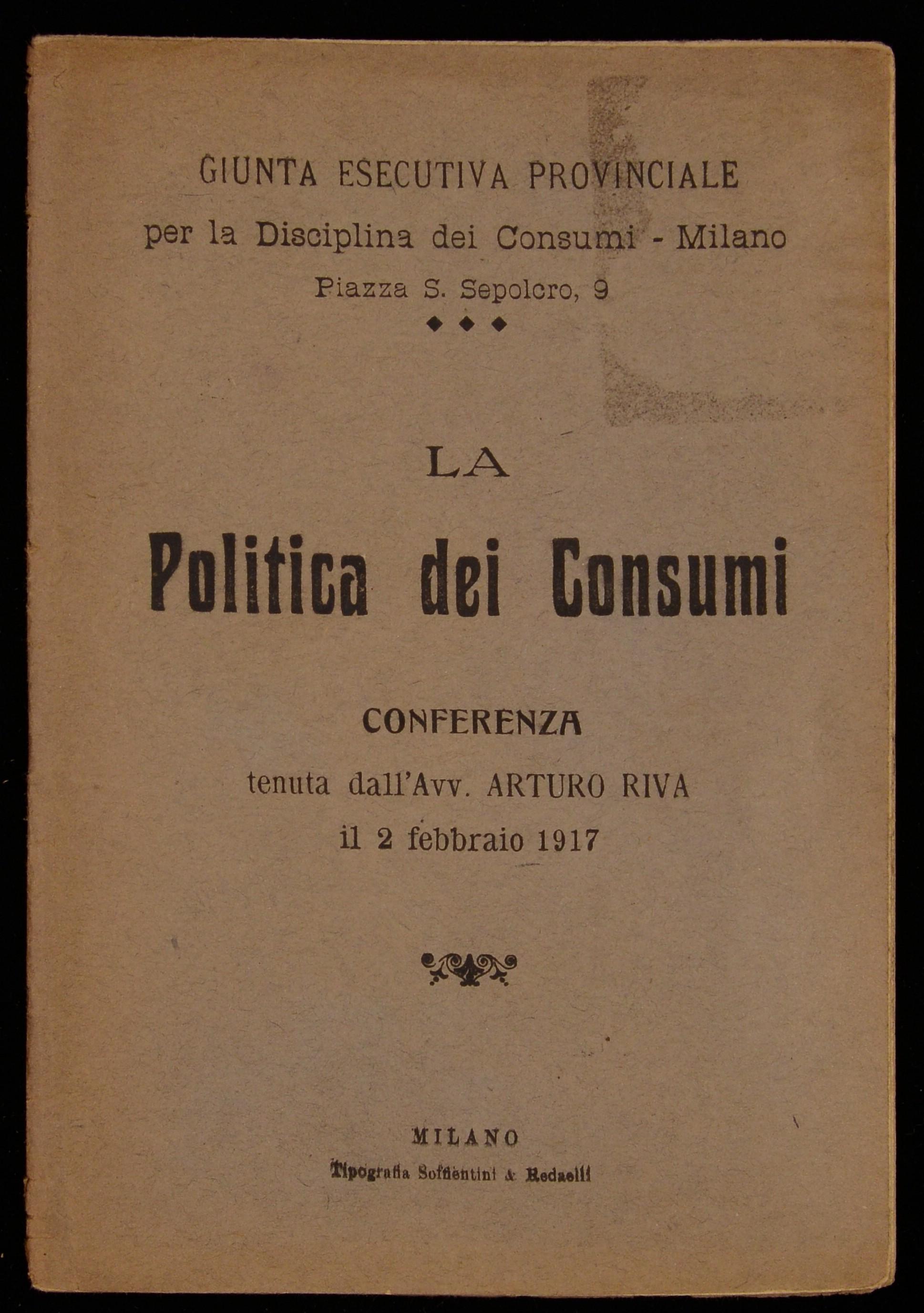 La politica dei consumi