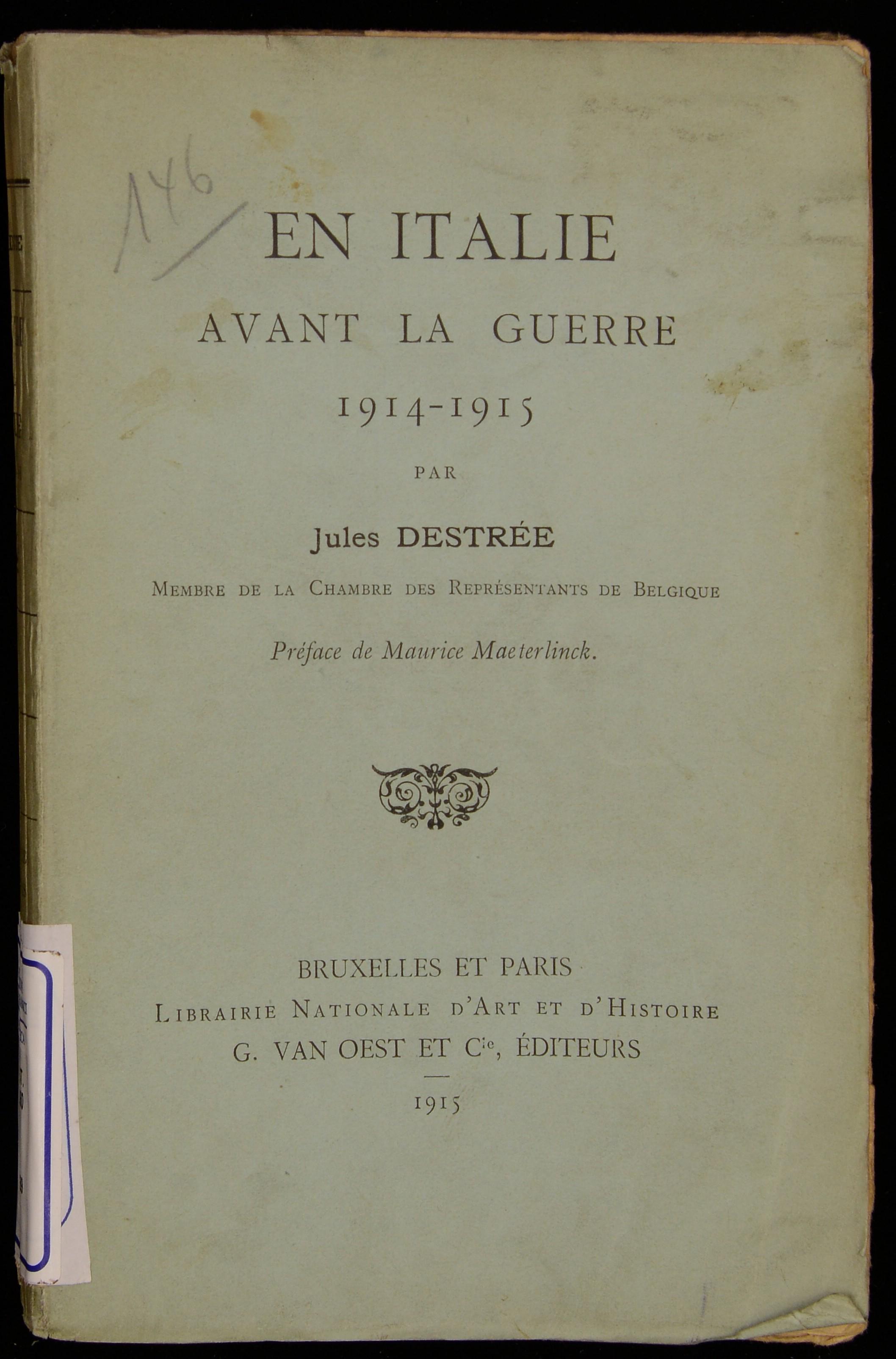 En Italie avant la guerre 1914-1915