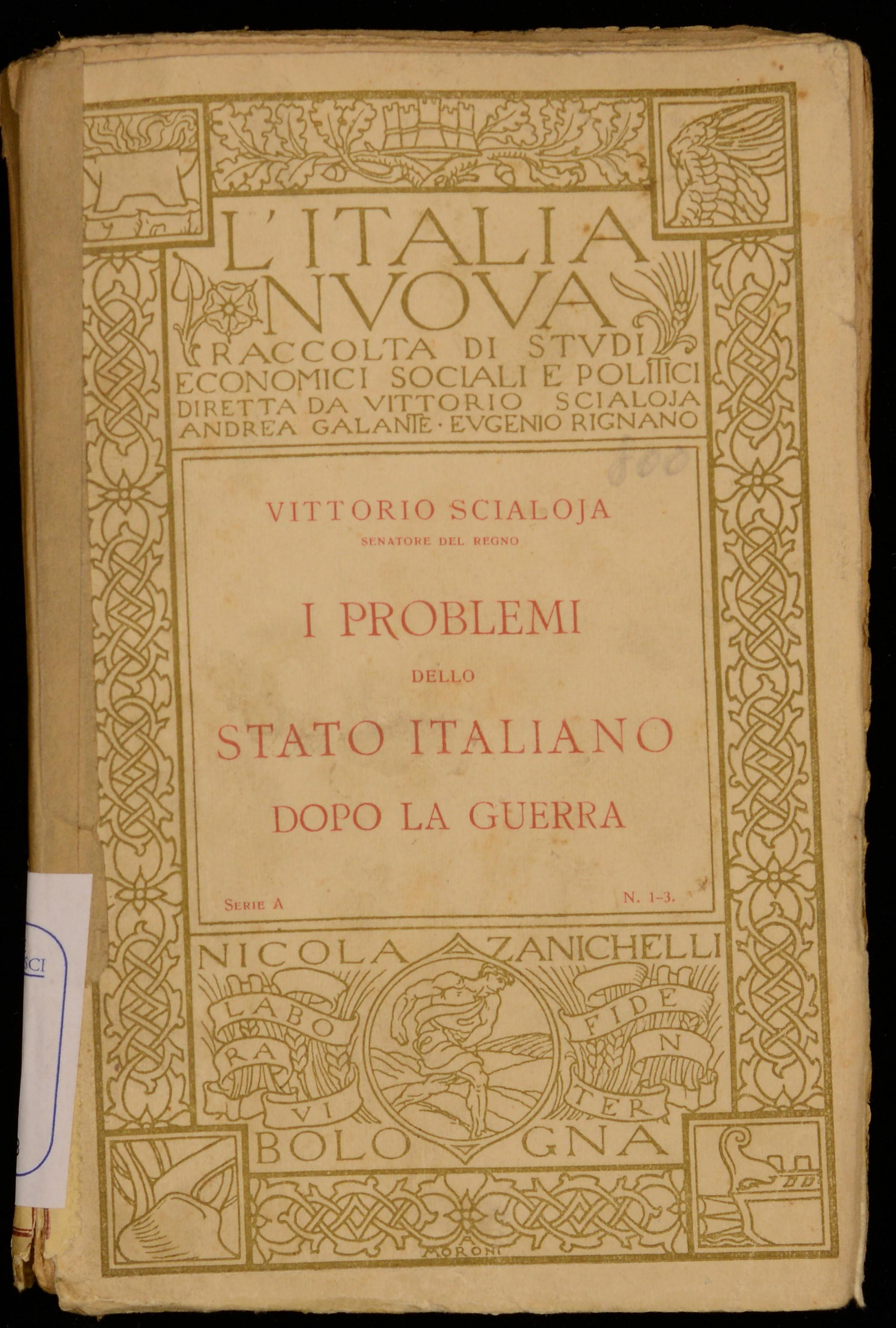 I problemi dello Stato italiano dopo la guerra