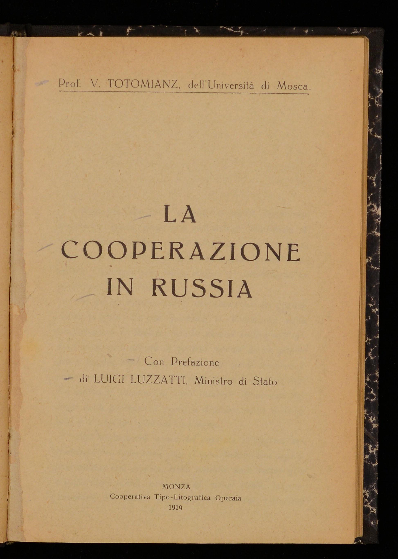 La cooperazione in Russia