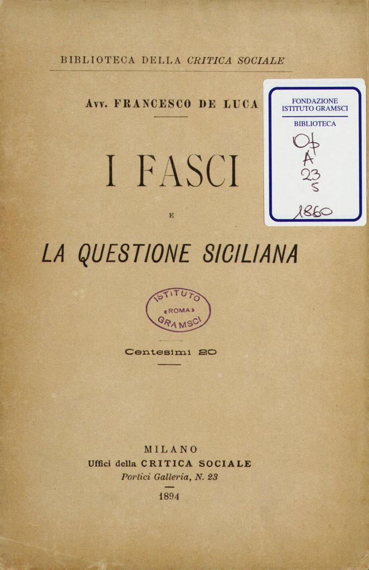 I fasci e la questione siciliana