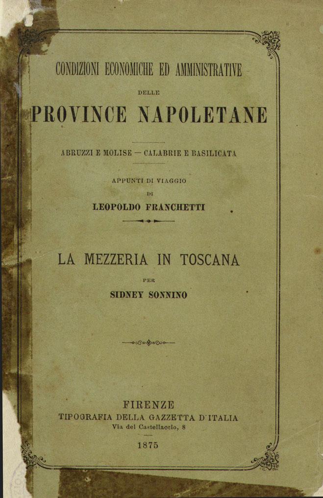 Condizioni economiche ed amministrative delle province napoletane